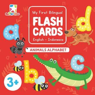 Opredo My First Bilingual Flash Cards: Animals Alphabet