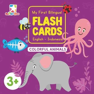 Opredo My First Bilingual Flash Cards: Colorful Animals