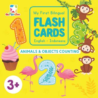 Opredo My First Bilingual Flash Cards: Animals & Objects Counting
