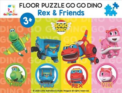 Opredo Floor Puzzle Go Go Dino: Rex & Friends