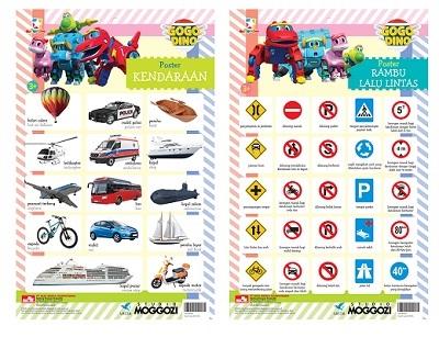 Opredo GoGo Dino Poster: Kendaraan dan Rambu Lalu Lintas