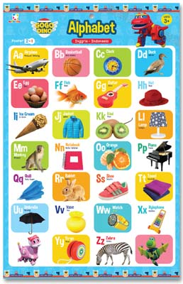 Opredo Poster 2 in 1 Gogo Dino: Alphabet and Numbers