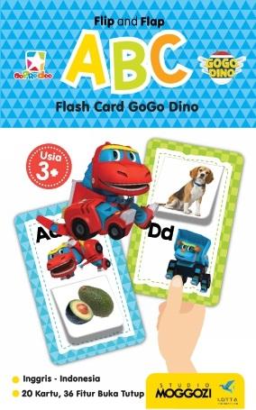 Opredo Flip and Flap ABC Flash Card GoGo Dino