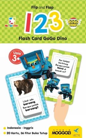 Opredo Flip and Flap 123 Flash Card GoGo Dino