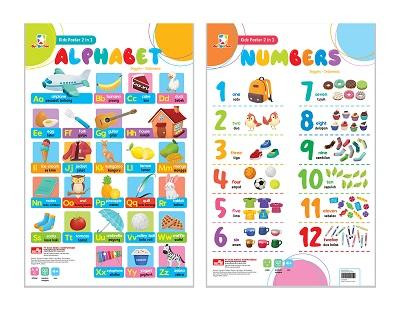 Opredo Kids Poster 2 in 1 - Alphabet & Numbers