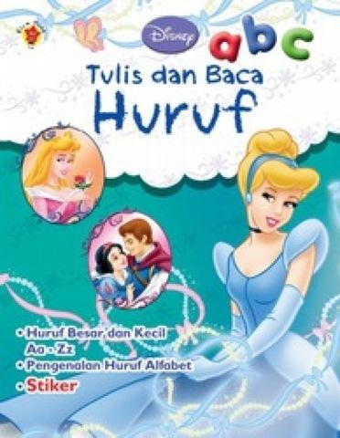 Aktivitas + Stiker Disney Klasik: Tulis dan Baca Huruf