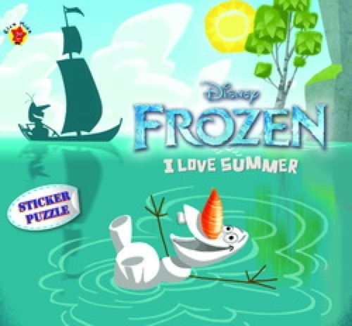 Frozen Sticker Puzzle : I Love Summer