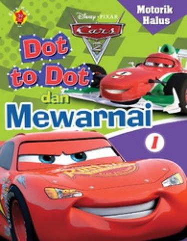 Motorik halus Dot to dot dan Mewarnai Cars 1