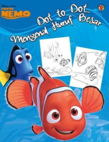 Dot to Dot Finding Nemo: Mengenal Huruf Besar