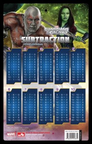 Marvel GOTG: poster tabel pengurangan