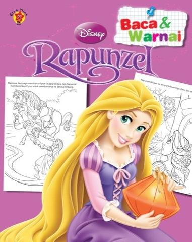 Baca dan Warnai Disney Klasik: Rapunzel