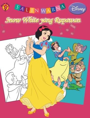 Salin Warna Disney Klasik: Snow White yang Rupawan