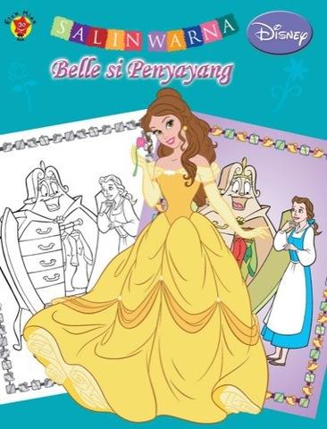 Salin Warna Disney Klasik: Belle si Penyayang