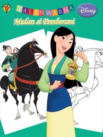 Salin Warna Disney Klasik: Mulan si Pemberani