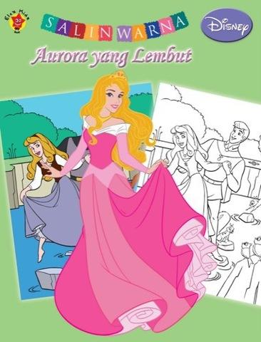 Salin Warna Disney Klasik: Aurora yang Lembut