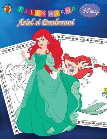 Salin Warna Disney Klasik: Ariel si Pemberani