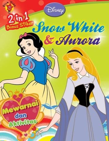 2 in 1 Mewarnai & Aktivitas Disney: Snow White & Aurora