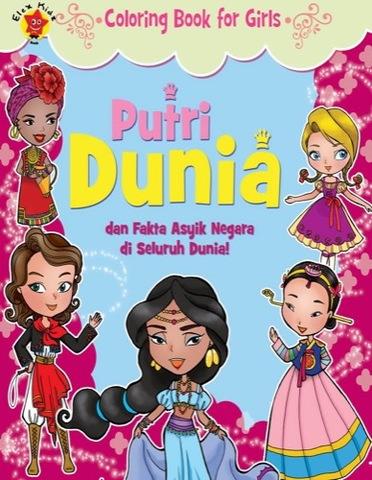 Coloring Book for Girls: Putri Dunia