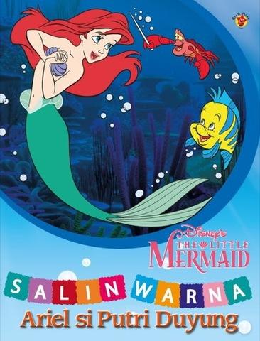 Salin Warna: Ariel si Putri Duyung