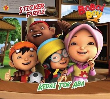 Sticker Puzzle Boboi Boy:  Kedai Tok Aba