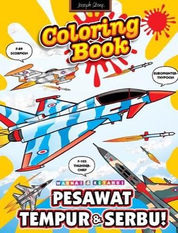 Coloring book: Pesawat Tempur dan Serbu
