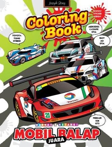 coloring book: Mobil Juara Balap