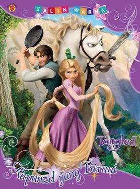Salin Warna Tangled: Rapunzel yang Berani