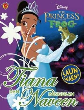 Salin Warna Princess & The Frog: Tiana dan Pangeran Naveen
