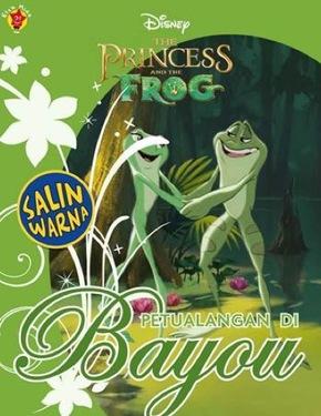 Salin Warna Princess & The Frog: Petualangan di Bayou