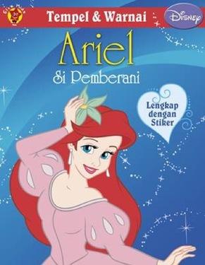 Tempel dan Warnai Disney Klasik: Ariel si Pemberani