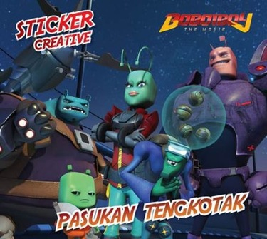 Sticker Creative Boboiboy: Pasukan Tengkotak