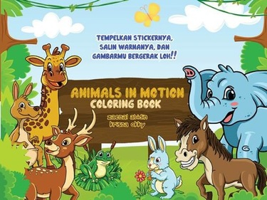 Animal in motion Coloring Book