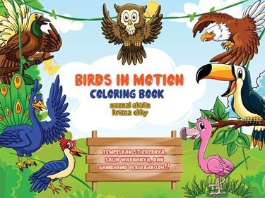 Bird In motion Coloring Book