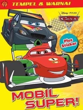 Tempel dan Warnai Cars 2 + Sticker: Mobil Super!