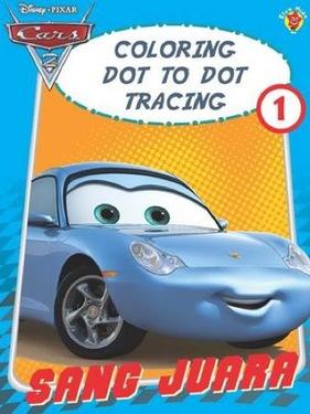Coloring Dot to dot Tracing 1 Cars Sang Juara