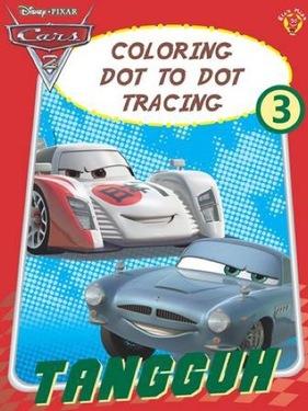 Coloring Dot to Dot Tracing 3 Cars Tangguh