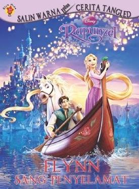 Salin Warna Plus Cerita Rapunzel: Flynn Sang Penyelamat