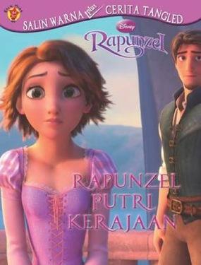 Salin Warna Plus Cerita Rapunzel : Rapunzel Putri Kerajaan