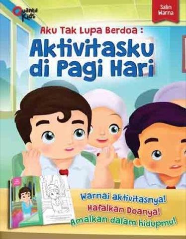 Salin Warna Edisi Aku Tak Lupa Berdoa : Aktivitasku di Pagi Hari