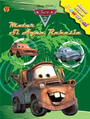 Mewarnai Plus Stiker CARS 2: Mater Si Agen Rahasia