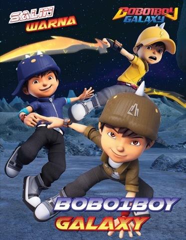 Salin Warna Boboiboy: Boboiboy Galaxy