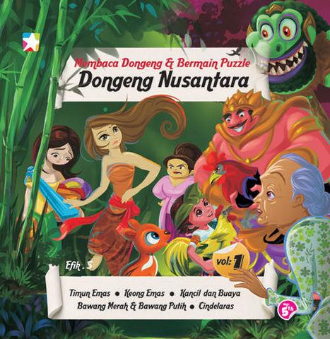 Membaca Dongeng dan Bermain Puzzle Dongeng Nusantara 1