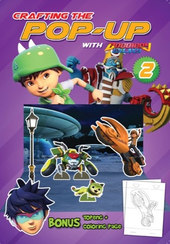 Crafting the Pop-Up With Boboiboy Galaxy Vol. 2