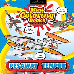 Mini Coloring Books Pesawat Tempur