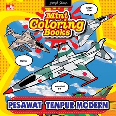 Mini Coloring Books Pesawat Tempur Modern
