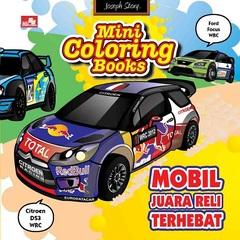 Mini Coloring Books-Mobil Juara Reli Terhebat