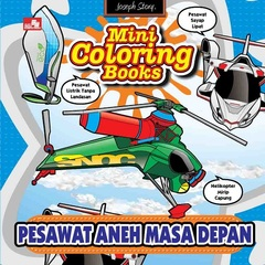 Mini Coloring Books-Pesawat Aneh Masa Depan