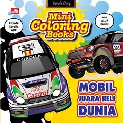 Mini Coloring Books-Mobil Juara Reli Dunia