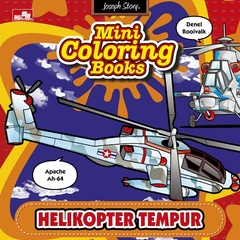 Mini Coloring Books-Helikopter Tempur