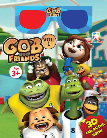 3D Coloring Book - Gob & Friends Vol. 1